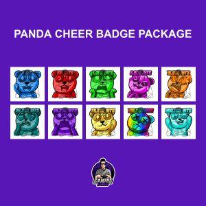 Panda Cheer Badge Package