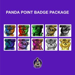 Panda Point Badge Package