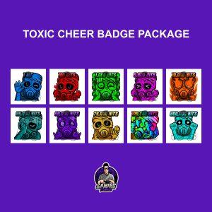 Toxic Cheer Badge Package