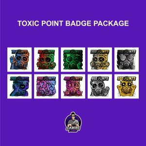 Toxic Point Badge Package