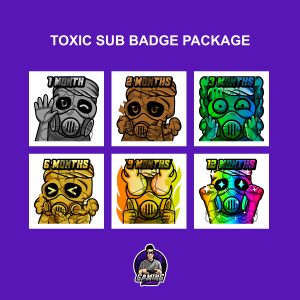 Toxic Sub Badge Package