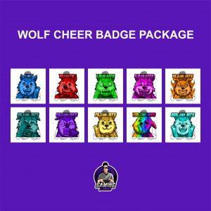 Wolf Cheer Badges