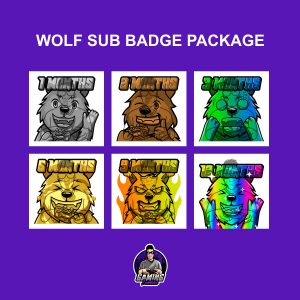 Wolf Sub Badge Package